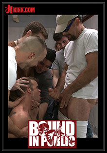 Bound In Public: Straight Stud Gets Gang Fucked In A Crowded Cruising Bathroom cover