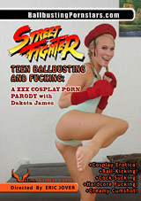 Street Fighter Teen Ballbusting And Fucking: A XXX Cosplay Porn Parody