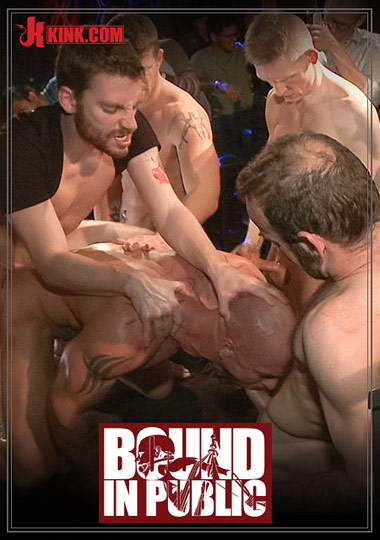 Bound In Public: Muscled Stud Has Had Enough But The Horny Crowd Says No cover