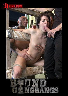 Bound Gangbangs: The Perfect Picture: Tiny Russian Girl Gangbanged, Two Dicks In Ass cover