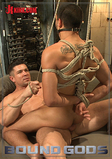 Bound Gods: Creepy Handyman Choke Fucks An Unwilling Student In Bondage cover