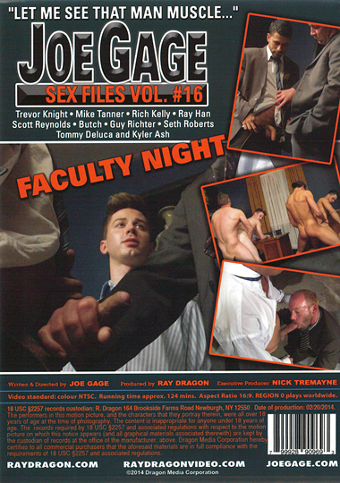 Joe Gage Sex Files 16 Faculty Night Cover Back