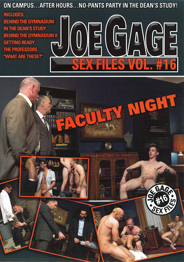 Joe Gage Sex Files 16 Faculty Night Cover Front