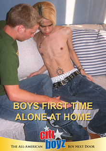 Boys First Time Alone At Home cover