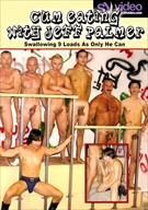 Swallowing 9 loads as only he can! 9 revved-up studs gladly give superstar Jeff Palmer their hard cocks! He sucks them all again and again going from one jutting pole to another in a cum-seeking frenzy!