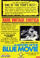 A History Of The Blue Movie:  Rare Vitage Erotica