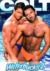 Catch hot, sun-soaked COLT men dripping in their sexy, form-fitting swimsuits. Award-winning director John Rutherford takes the original COLT formula one step further with this ultra-wet and steamy summer adventure. Waterbucks 2 overflows with COLT Men - well muscled and shimmering with body hair - pleasuring one another around an amazing California poolside location. You'll drown in the gorgeous, flowing footage.