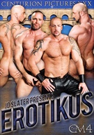 A heart-stoppingly real, truly intimate study of the mega homo erectus, captured at his most passionate and powerful primal heat. Centurion Muscle IV: Erotikus elevates sex and flesh to a level of art that will make you sweat and growl like the manimals it documents. This is a monument to all who lust after monster-dicked mountains of massively buffed heroes of hoochie, the ones who stride like giants and rut like pigs. Every moment unfolds raw and electric, dripping with the alarmingly honest inner beast power every elite sexual gladiator brings to his match. As only he can, J.D. Slater has concocted a heady erotic brew of sleaze and desire that will intoxicate the viewers the same way the cast got high off each other. It not only achieves the lofty levels of its predecessors in the series, but goes on to push even deeper into the libidos of its men and audience. It is, in short, a triumph.