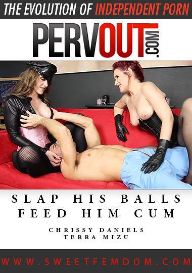 Slap His Balls Feed Him Cum