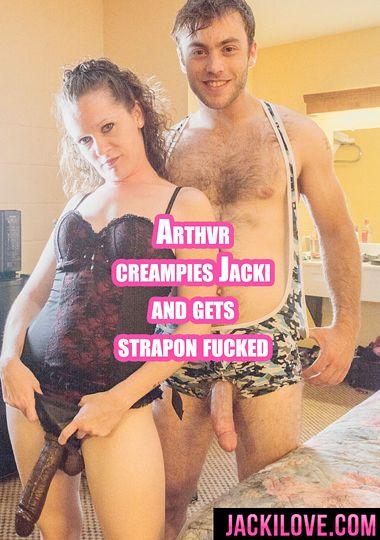 Arthvr Creampies Jacki And Gets Strapon Fucked