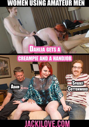 Dahlia Gets A Creampie And A Handjob