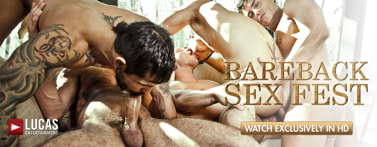 Lucas Entertainment brings an HD Exclusive bareback orgy starring Rafael Carreras, Shane Frost, Hot Rod, Draven Torres, Fabio Stallone Jed Athens and more