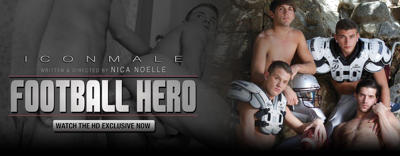 Hot Jocks Ty Roderick, Brandon Wilde, and Trenton Ducati are ready for this American Football season in the Exclusive from Icon Male by Nica Noelle.
