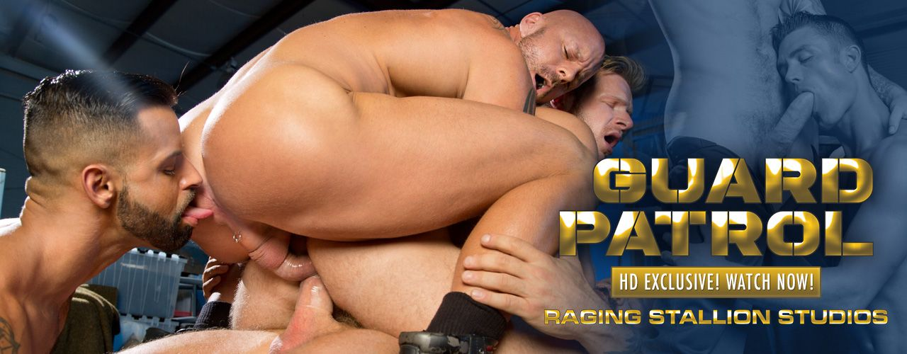 Brian Bonds, Ryan Rose, Rocco Steele, Christian Wilde, Mitch Vaughn, & David Benjamin give security the night Shaft in this Exclsuive from Raging Stallion
