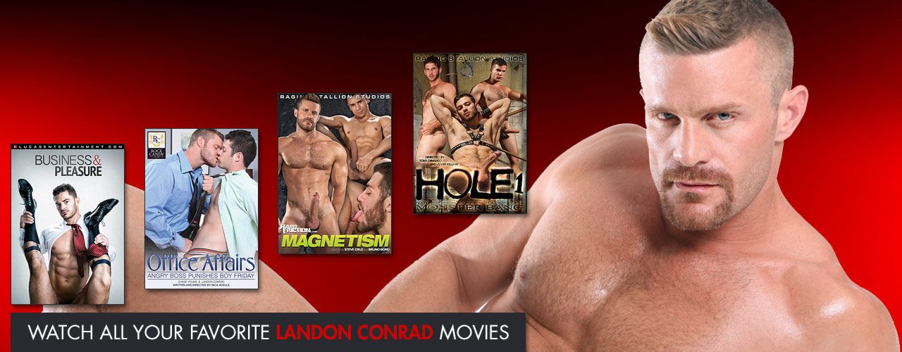 Catch Falcon Exclusive Landon Conrad show all his bedroom talents.