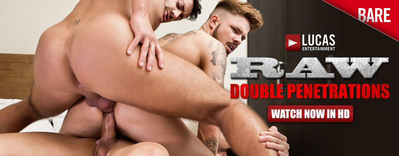 Two dicks are better than one especially when it's a hot muscley, threeway bareback double penatration movie in crisp High Definition.