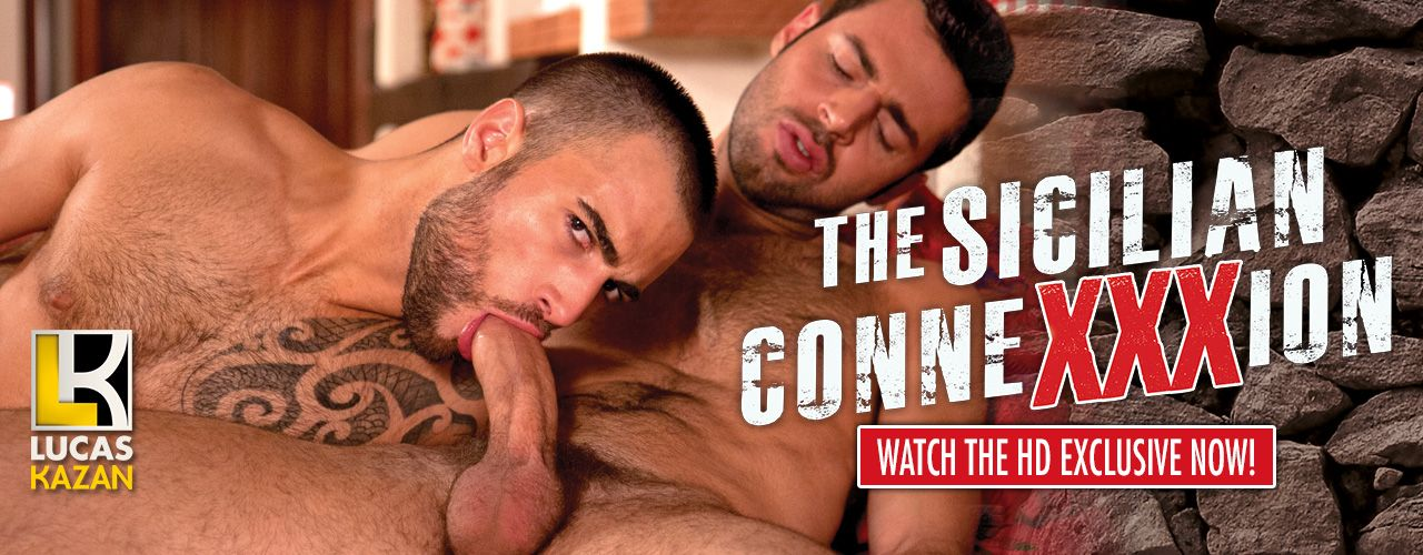 3 Sicilian newcomers and 5 Euro studs in HD Bareback Action from Lucas Kazan Productions available exclusively here.