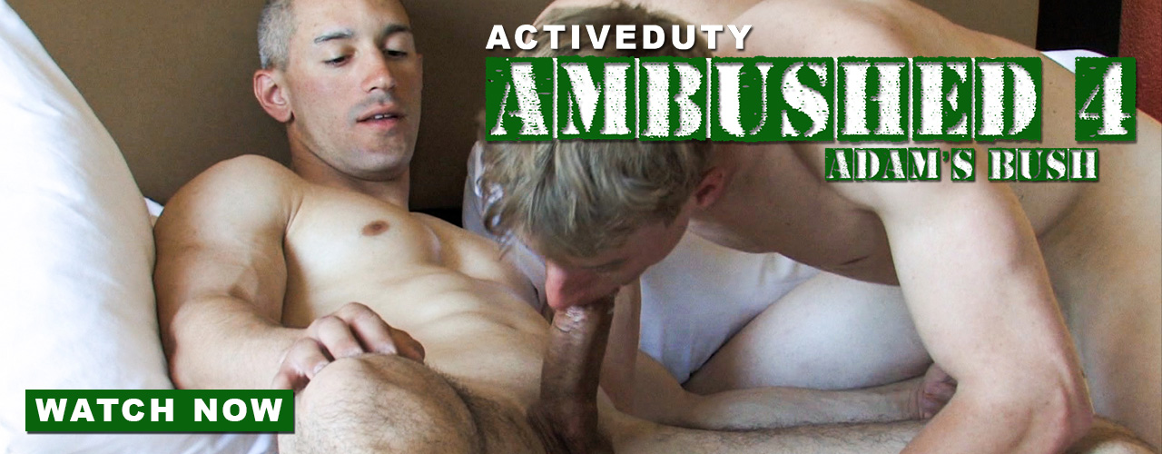 Hot muscled Military men show everything they have in Ambushed 4, watch now!