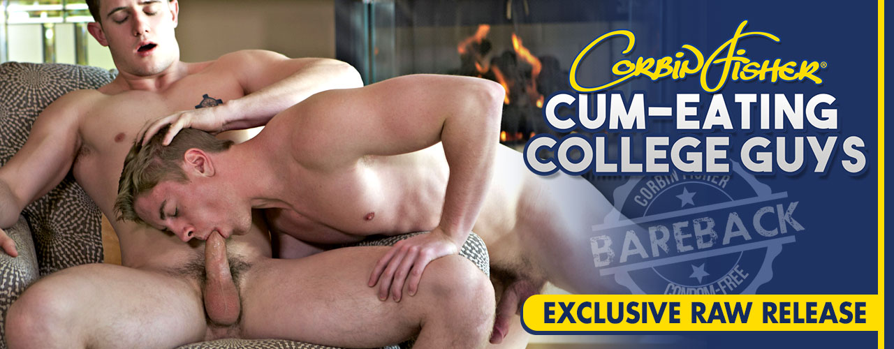 Corbin Fisher does it again bringing you Cum Eating College Guys.