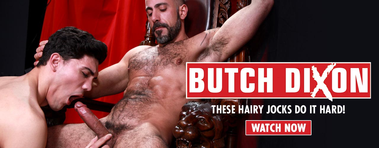Bears, daddies, jocks with tattooed muscles, fuck pigs, and other studs with big dicks make Butch Dixon a favorite of Euro porn aficionados.