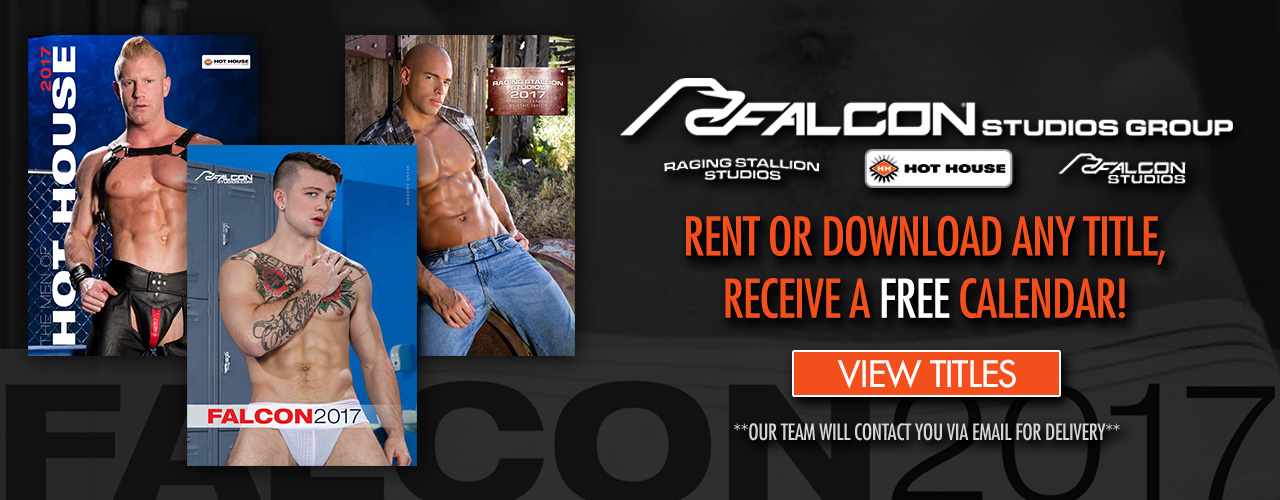 Get your free Falcon Studio Group calendar today with any download or rental!