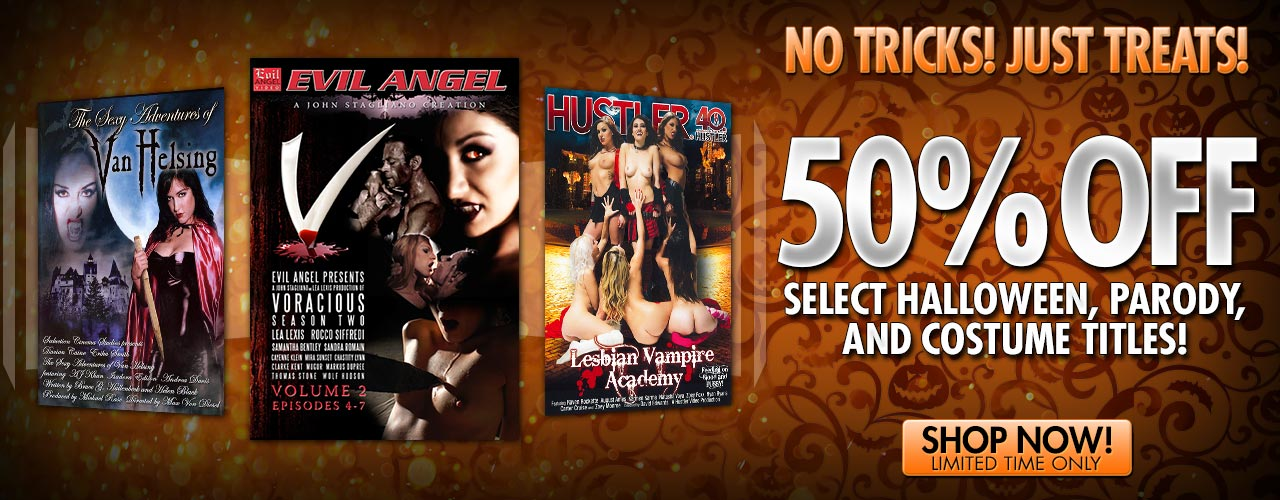 Enjoy 50 percent off rentals on select halloween, parody, and costume titles for a limited time.