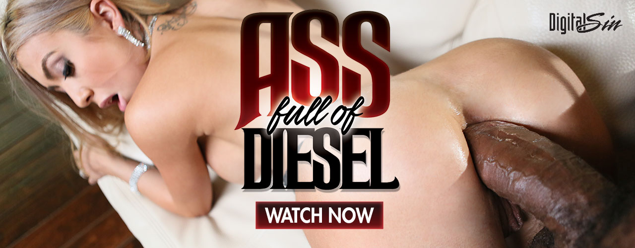 New Sensations: Ass Full Of Diesel features Dahila Sky, Eva Long, Kat Dior and Violet Monroe and they're going to take an ass full of diesel!
