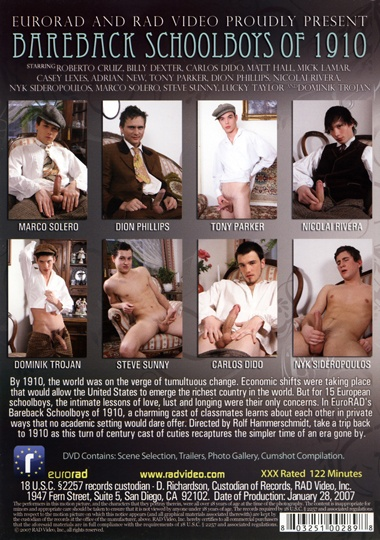 Bareback Schoolboys of 1910 Cover Back