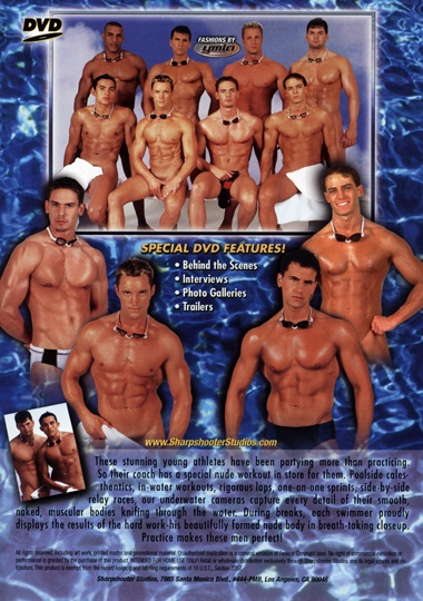College Swim Team Cover Back