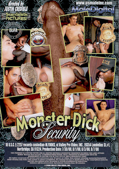Monster Dick Security 1 Cover Back