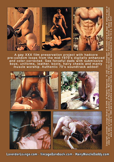 Vintage Bareback Hairy Muscle Daddy 3 Cover Front