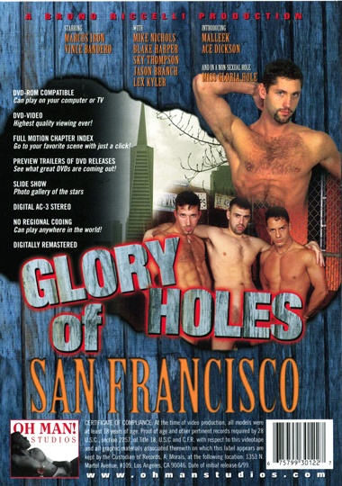 Glory Holes of San Francisco Cover Back