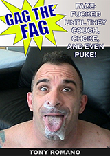 Gag The Fag Exposed: Tony Romano Gagged By Mike Hawk