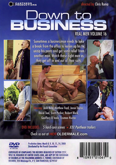 Real Men 16 Down to Business Cover Back