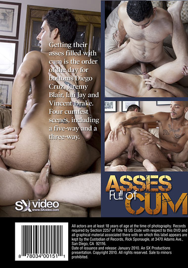 Asses Full of Cum Cover Back