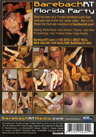 BarebackRT Florida Party Cover Front