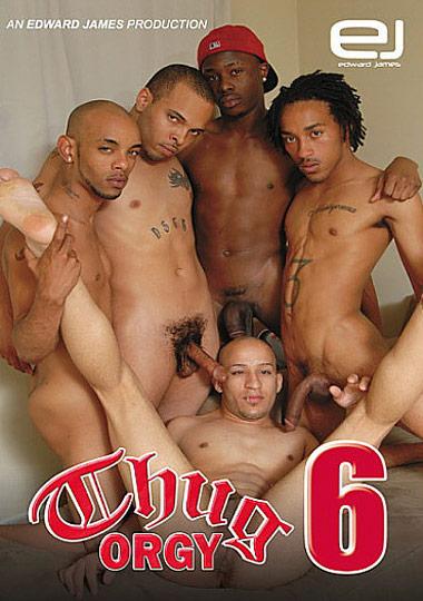 Gay black thug orgy