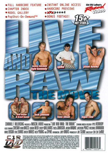 Live and Raw The Movie Cover Back