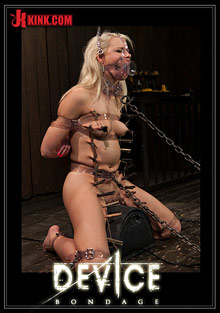 Device Bondage: Hot Blonde Anikka Albright's First Bondage Shoot Ever cover