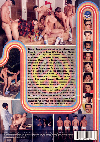 That 70's Gay Porn Movie Cover Back