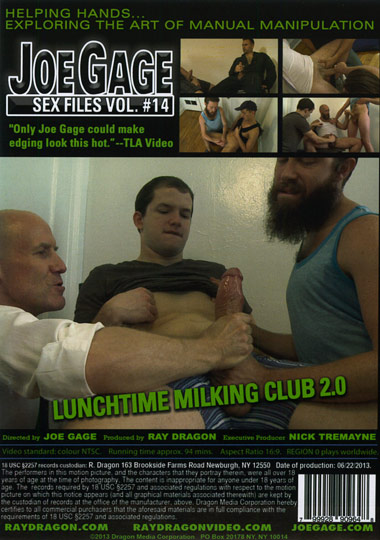 Joe Gage Sex Files 14 Lunchtime Milking Club 2.0 Cover Back