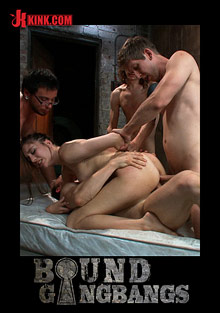 Bound Gangbangs: Brand New Girl Tries Anal And DP For The First Time In Take Down Scene cover