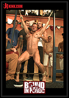 Bound In Public: Bathhouse Whore Tormented And Gang Banged By A Horny Crowd