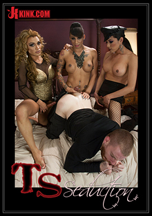 TS Seduction: The First Ever TS Gang Bang On TS Seduction - The Gangster Gangbang cover