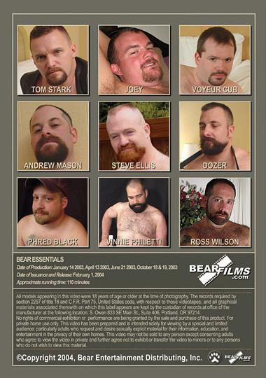 Bear Essentials 1 Cover Back