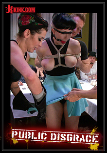 Public Disgrace: Nerine Mechanique Served Up And Fucked At A Dinner Soiree cover