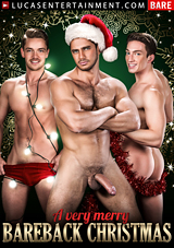 a very merry bareback christmas, lucas entertainment, gay, porn, bareback, muscles, dato foland