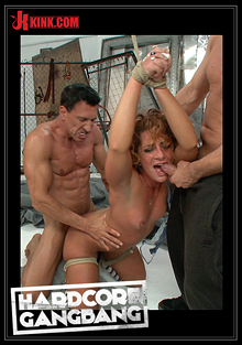 Hardcore Gangbang: Super Hot Red Head Taken Down In A Nasty Squirt Fest - Double Anal cover