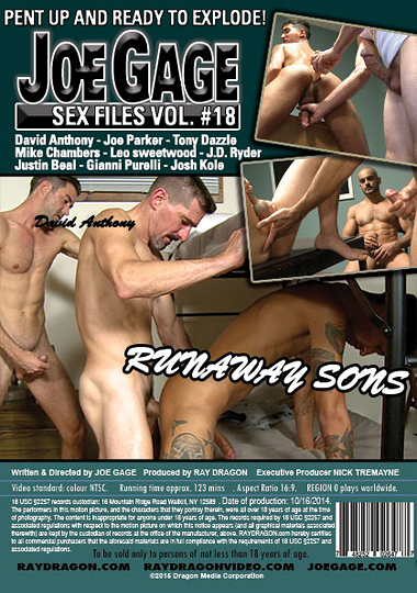 Joe Gage Sex Files 18 Runaway Sons Cover Back