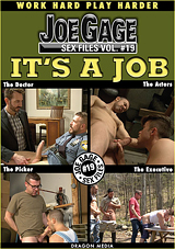 joe gage sex files, volume 19, it's a job, gay, porn, dragon media, max sargent, leo sweetwood